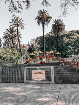 Children's park closed, Buenos Aires, Argentina April 5, 2020@Juli Urmenyi