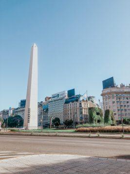 El Obelisco, Avenida 9 de Julio, Buenos Aires, Argentina April 5, 2020@Juli Urmenyi