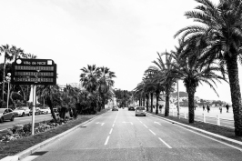 Promenade des Anglais, Nice, France, April 9, 2020 @OH Chrystal Pictures