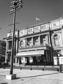 The famous Colon Theater seen from Libertad street, Buenos Aires, Argentina April 5, 2020@Juli Urmenyi