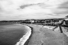 The lonely beaches, Nice, France, April 9, 2020 @OH Chrystal Pictures