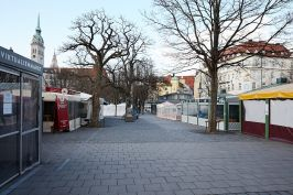 Viktualienmarkt, Munich, Germany, March 25, 2020@helenaheilig.de