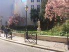 Voltaire observing the tourists Paris April 5 2020 @Lorene Edelstam