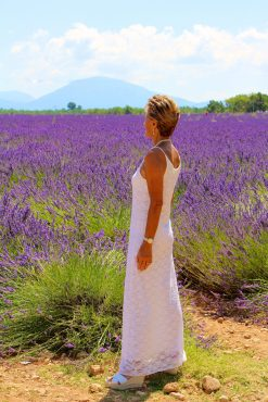 Admiring the rows of purple lavender @Zsolt Lavotha