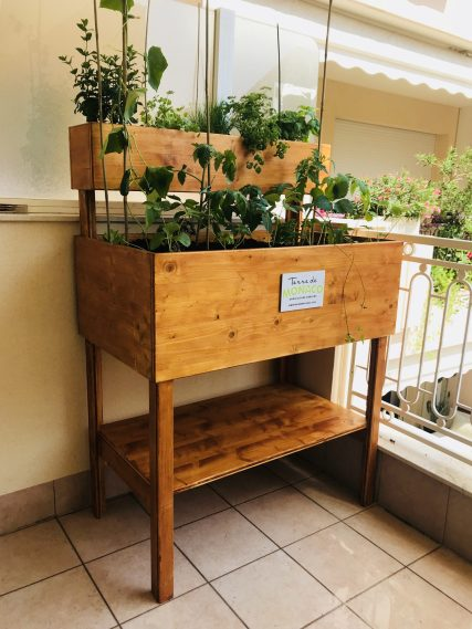 Private vegetable garden in an apartment balcony @TDM