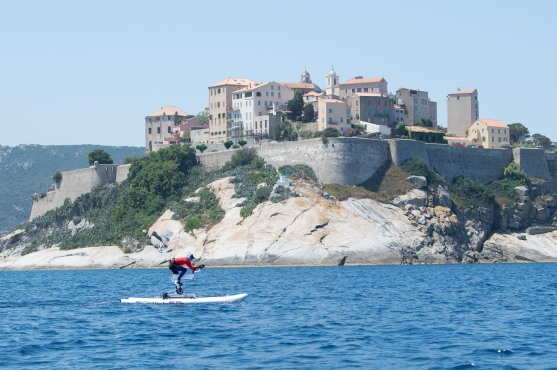 Princess Charlene training for the Water Bike Challenge 2020, Calvi, Corsica@Eric Mathon, Palais Princier