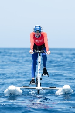 Princess Charlene training for the Water Bike Challenge 2020@Eric Mathon, Palais Princier
