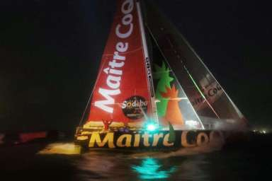 Yannick Bestaven @ Laurent Theillet, winner of 9th edition of Vendee Globe